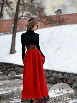 russian-style-woolen-skirt
