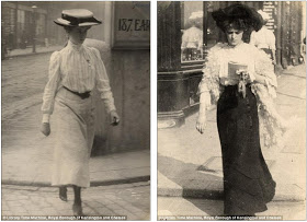 Edwardian street style Astonishing amateur images which capture the fashion of women in London and Paris over a century ago  1.jpg